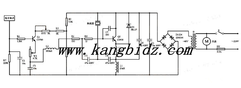 (1)整流电路,(2)电容三点式振荡电路