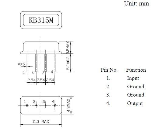 声表面谐振器f11-315m,声表滤波器