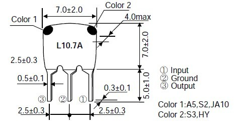 陶瓷滤波器l10.7a-陶瓷晶振