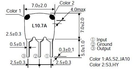 陶瓷滤波器l10 7a 陶瓷滤波器 晶体谐振器 收音滤波器