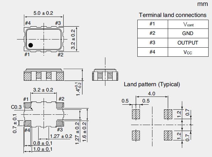 NT5032SC晶振,NDK晶振,进口石英晶体振荡器5032mm体积的石英晶体振荡器有源晶振,改产品可驱动2.5V的温补晶振,压控晶振,VC-TCXO晶体振荡器产品,电源电压的低电耗型,编带包装方式,可对应自动高速贴片机自动焊接,及IR回流焊接(无铅对应),为无铅产品,超小型,质地轻.产品被广泛应用到集成电路,程控交换系统,无线发射基站.