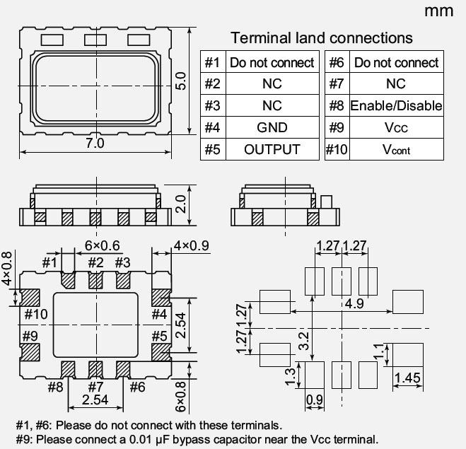 nt7050bc晶体,十脚贴片晶体,ndk温补晶振