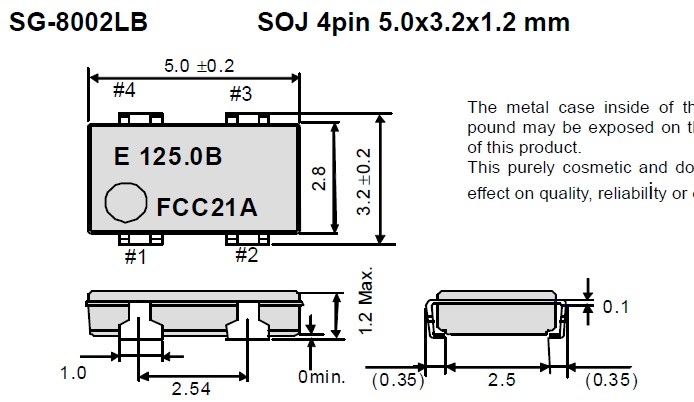 sg-8002lb晶振,陶瓷面有源晶振