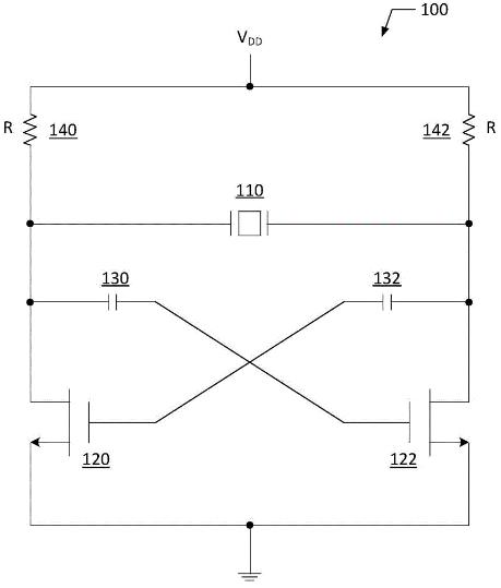 差分贴片晶振电路的输出端子处产生的振荡频率