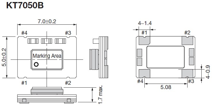 kt7050晶振,进口京瓷振荡器,kss石英smd晶振